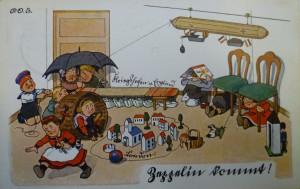 Postkarte Zeppelin